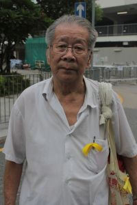 Proud Hong Kong. He didn't hesitate for a minute when I asked for a photo. (photo by therockmom)