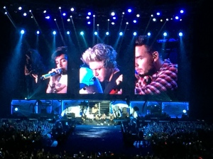 An acoustic break at the One Direction show. (photo by rockmom-in-crime, Janet)